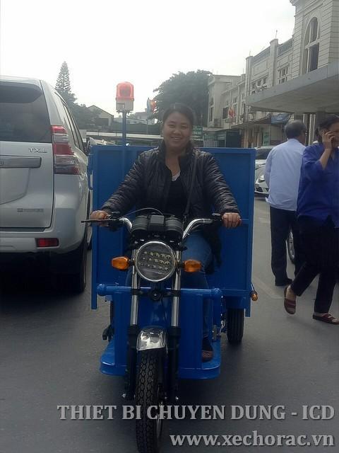 Xe điện chở rác 3 bánh