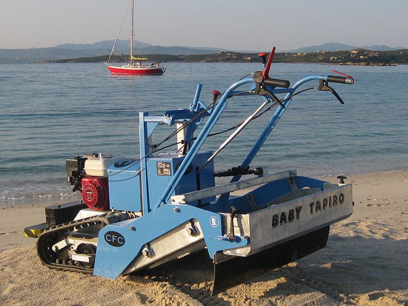 Máy sàng cát, máy dọn rác bãi biển TAPIRO (Italia)