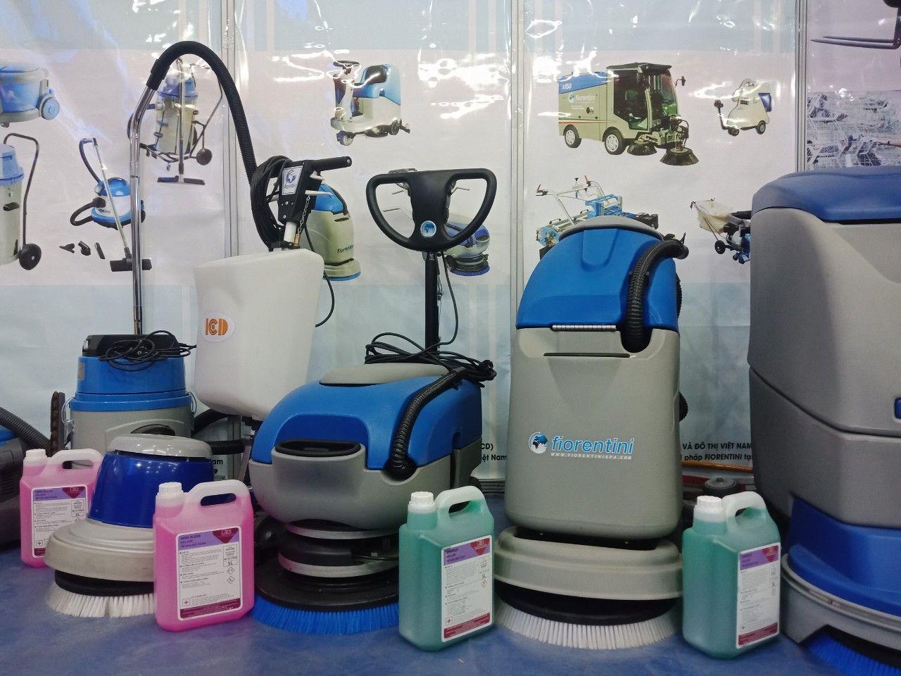 Một vài hình ảnh gian hàng Máy vệ sinh công nghiệp Fiorentini tại Triển lãm VIMEXPO 2020